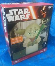 Gemmy Airblown Inflatable 4' Star Wars Yoda Yard Figure Prop Deco New in Box
