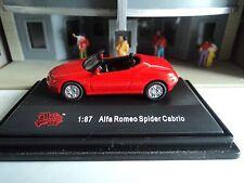 MALIBU  ALFA  ROMEO  SPIDER CABRIO  RED   CONVERTIBLE   1/87  HO  DIE CAST