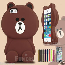 Cute Good Teddy Bear 3D Cartoon Funny Ted Rubber Soft Cover Case for iPhone 5 5S
