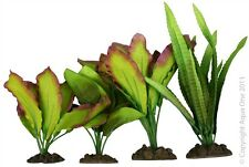 Aqua One A1-24243 Silk Plant 4pk Mix 3 For Freshwater Aquarium & Terrarium