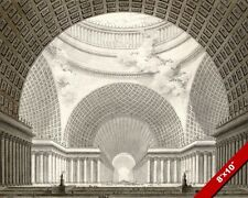 CLASSICAL ARCHITECTUAL PERSPECTIVE PEN INK PAINTING ART REAL CANVAS GICLEEPRINT