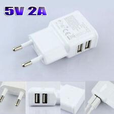 USB CARICA BATTERIA ADATTATORE 2 PORTE PRESA SPINA X SAMSUNG,NOKIA,HUAWEI,IPHONE