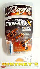 "Rage Slip Cam Crossbow X 2 Blade/2""/100 Gr. - R53000"