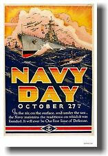 NAVY DAY - NEW Vintage Reproduction World War 2 Art Print POSTER