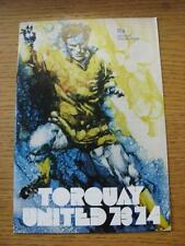 29/08/1973 Torquay United v Plymouth Argyle [Football League Cup] (Rusty Staple)