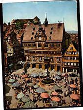 Tübingen - Marktpl m. Rathaus,  gel. 25.2.1969, frankiert 20 Pf. SWK