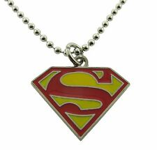 Superman Necklace Pendant Dog tag DC Comic Usa American Superhero Logo Original