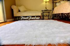 3x5 True Snow White Faux Fur Rugs Sheepskin Rectangle Flokati Shaggy Area Rug