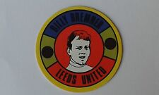 1970 B.A.B. Products Billy Bremner Leeds United Circular Charicature Sticker