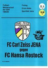 OL 89/90 FC Carl Zeiss Jena - FC Hansa Rostock (RS-A)