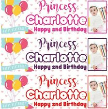 PERSONALISED BIRTHDAY BANNER BALLOON 1st 18th 21st 30th 40th-any name age e29
