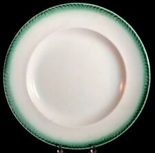 Feather Edge Green Dinner Plate 9 1/2 Inch 1830s Stafforshire Shell Edge Design