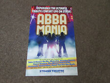 ABBA Mania Ultimate Tribute Concert on Stage STRAND Theatre Original Poster