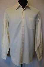 Hugo Boss Mens Dress Shirt Long Sleeve Yellow Button Front Cotton 17 1/2 36/37