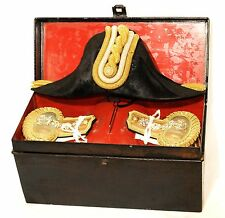 WW2 Imperial Japanese Navy IJN Colonel Shoulder Boards & Hat w/Box Military #988