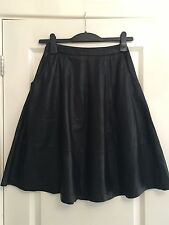 Lovely Women's ASOS Black Leather A Line Flippy Skirt UK 6 Worn Once