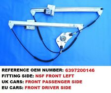 MERCEDES BENZ VITO W639 FRONT RIGHT UK DRIVER SIDE WINDOW REGULATOR SET