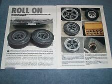 "Vintage Mag Wheel Racing Slick Tires Info Article ""Roll On"" American E-T"