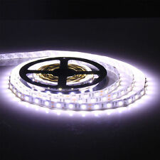 5M 5050 SMD 60LEDS/M White 16.4ft 300 LED Strip Light Flex No-Waterproof Car 12V