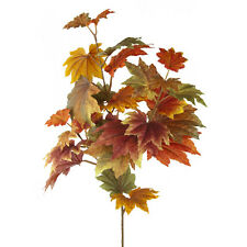 Autumn leaves artificial silk display decoration garland 70cm maple leaf