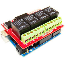 4 Channel Relay Board-Compatible for Arduino 4 SPDT Relay channels LED indicatio