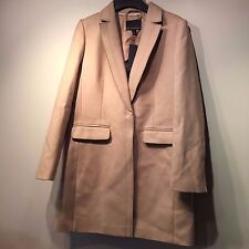 NWT Banana Republic Melton Wool Buttoned Top Coat Camel SIZE 2 #256724