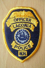 Patches: LACONIA N.H. NEW HAMPSHIRE POLICE OFFICER PATCH (NEW*apx.9x6.5 cm)