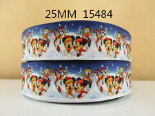 "Mickey and Minnie Christmas Ribbon 1"" Wide NEW UK SELLER FREE P&P"