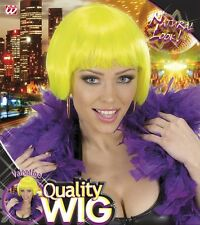 CARNEVALE WIDMANN PARRUCCA WIG CAPELLI GIALLO FLUO  YELLOW FLUO HAIR  ART V0689