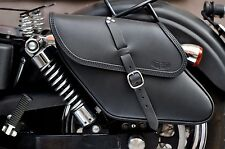 HARLEY DAVIDSON DYNA LEFT OR RIGHT SADDLE BAG  ITALIAN LEATHER ENDSCUOIO  T