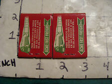 vintage Matches 1930's or 40's: 2 ACME FAST FREIGHT in Spanish