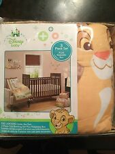 DISNEY THE LION KING UNDER THE SUN 3 PIECE COMFORTER SHEET CRIB BEDDING SAFARI