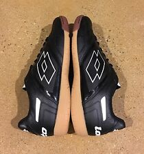 Lotto Stadio Potenza IV Size 12.5 Men's Black White Athletic Indoor Soccer Shoes