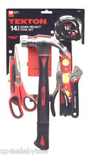 14-pc.Tool Set for Home Projects General Household Hand Tool Kit TEKTON 1855
