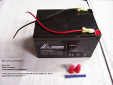 12V Battery Replacement W Kit for PowerWheels F-150 Raptor Barbie Jeep Dune