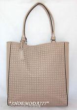 $398 BCBG Maxazria Laser Cut Out Leather Tote Bag Business Handbag Parfait New