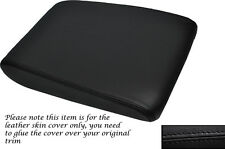 BLACK STITCHING  LEATHER ARMREST SKIN COVER FITS AUDI A8 D3 2002-2010