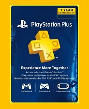 PlayStation PS PLUS 1 YEAR 12 MESES 365 DIAS para PS4 PARA TODO EL MUNDO