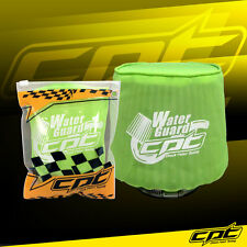 Universal Water Guard Cold Air Intake Pre-Filter Cone Filter Cover Green - Small