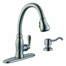 Pavilion Single-Handle Pull-Down Sprayer Kitchen Faucet w/Soap Dispenser 663551