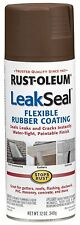 Rust-Oleum 267976 LeakSeal Waterproofing Coating Solution Spray Paint - Brown