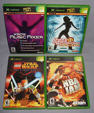 XBOX LOT: Lego Star Wars, NBA Jam, Music Mixer, DDR Ultramix 4 - Complete, CIB