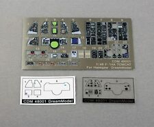 New Style 1:48 Color PE US Navy Tomcat F-14A Cockpit For Hasegawa