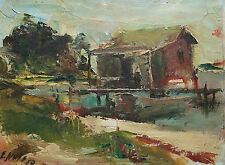 EUGENE WHITE - 'Long Boat Key' - Impressionist Oil on Board - U.S. - Circa 1950