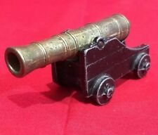 Vintage Penncraft Mt. Penn PA. USA Black W/ Brass Barrel Cast Iron Toy Cannon
