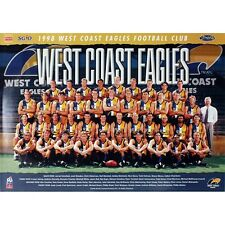 WEST COAST EAGLES OFFICIAL AFL 1998 TEAM POSTER FULL COLOUR 700mm x 500mm (RARE)