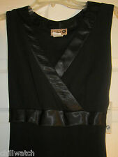 NWT LULY K BLACK COCKTAIL DRESS SIZE SMALL (WOULD FIT XS TOO) ASYMETRICAL HEM