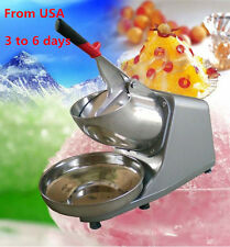 USA Local 300w 132lbs/h Electric Ice Shaver Crusher Snow Cone Maker Machine 110v