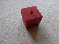 Kerze Wachskerze Vierkantkerze Vierkant rot Adventskranz Advent Wachs