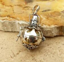 Bali 925 Sterling Silver Amethyst Harmony Dream Ball Pendant 15mm